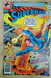 DC~SUPERMAN #340~VFn~Pence Variant~Bag/Board~