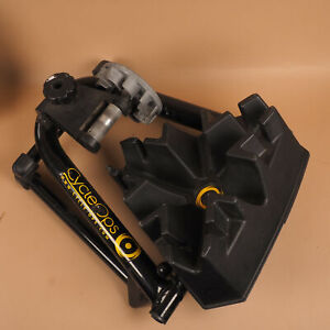 CycleOps Wind Indoor Cycle Trainer Black + Riser Block