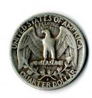 Moneda Estados Unidos América USA 1953 D quarter Dollar silver .900 coin plata