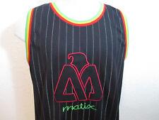 Matix Throwback Jersey Black Stripe Stitched Sleeveless Basketball Size M EUC