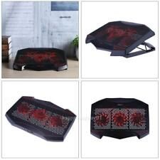 """Red LED Dual USB Port 3 Fan Cooling Pad Cooler Stand for 12""""-17"""" Notebook Laptop"""