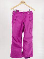 Burton Girls Pants 10/12 Purple Bright Snowboarding Winter Adjustable Waterproof