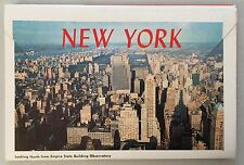 VINTAGE NEW YORK CITY 1957 POSTCARD BOOKLET 13 COLOR SOUVENIR
