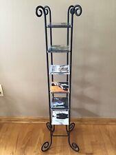 New ListingBlack Metal 80 Cd Tower Stand Media Storage Holder Rack Shelf Organizer