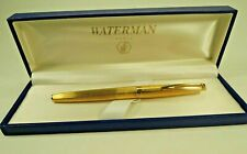 WATERMAN CF PLAQUE ORG FOUNTAIN PEN 18K 750 GOLD NIB 135mm