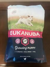 Eukanuba - Growing Puppy - Chicken Complete Dog Food - Small Breed - 1KG