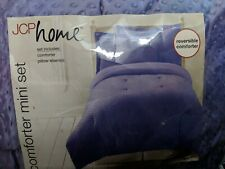 New Jcpenney Home Twin Comforter & Sham Purple Happy Dots Soft Plush