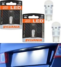 Sylvania ZEVO LED Light 194 White 6000K Two Bulbs License Plate Replace OE Look