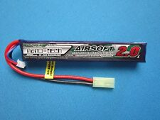 TURNIGY NANO-TECH 2000mAh 2S 7.4V 15C 25C LIPO BATTERY AIRSOFT MINI TAMIYA MOLEX