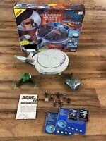 Vtg Playmates Star Trek USS Enterprise Mini Playset NCC-1701-D with Box & Extras