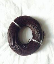 12mt di cordino filo in Pelle cuoio 2mm colore marrone per bracciale,collana