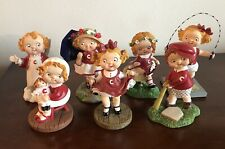 Danbury Mint Campbell Soup Kids Porcelain Figurines Lot Of 7 1996 & 1997