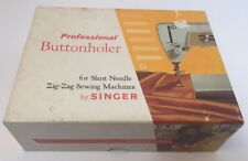 SINGER PROFESSIONAL BUTTONHOLER for SLANT NEEDLE ZIG ZAG SEWING MACHINE W MANUAL