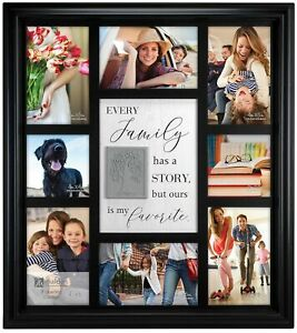 Malden 8 Opening Family Story Collage Photo Frame One Size Black