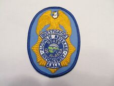 Alaska State Alcoholic Beverage Control Enforcement Investigator Vest Patch