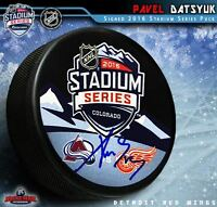 PAVEL DATSYUK Signed 2016 NHL Stadium Series Logo Puck - Detroit Red Wings