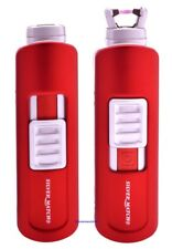 Cigarette Lighter - Silver Match Westferry Red Single Arc Electronic - NEW