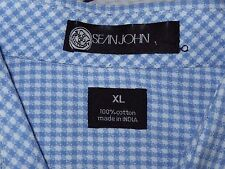 Sean John Button Down Dress Shirt-size XL  French Cuffs, SJ logo embroidery