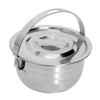 Stainless Steel Outdoor Cooking Camping Cookware Campfire Hanging Pan Pot S