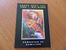 1986 GREY CUP program Edmonton vs HAMILTON Nrmt*