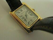 Vintage Tiffany & Co. 14k Gold Manual Wind 70s Runs. 26mm x 19mm