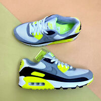 Nike Air Max 90 Mens Trainers Shoes White Volt UK 8.5 EUR 43 US 9.5 CD0881 103