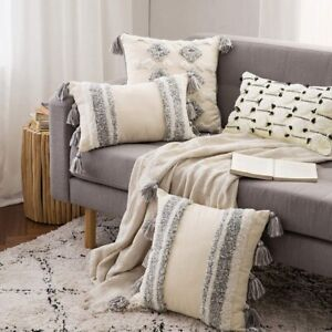 Boho Woven Tufted Tribal Soft Throw Pillow Cushion Cover Pillow Sham Pillowcase