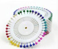 80 Stück Stecknadeln  Nadeln mit Plastikkopf 35 mm Perlkopfstecknadeln