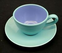 Lindt Stymeist Colorways China Cup and Saucer Turquoise and Blue