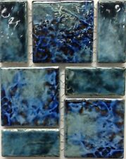 Fujiwa Porcelain glazed Swimming Pool WaterlineTile LEGACY-96 BLUE BLEND In 2PAC