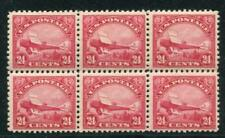 UNITED STATES C6 MINT, BLOCK OF 6, 5 of the 6 NH