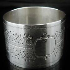 Antique Silver Napkin Ring, London 1888, Josiah Williams & Co