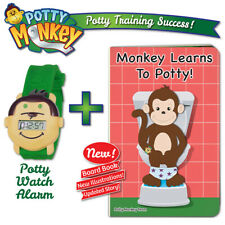 Potty Monkey Watch & Monkey Learns To Potty Board Book Set