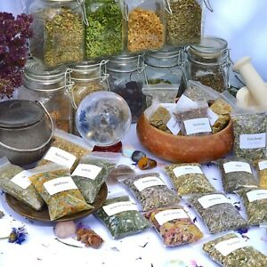 Dried herbs for wicca,witchcraft,spells,magic,incense,crafts M~T (Choice of 250)