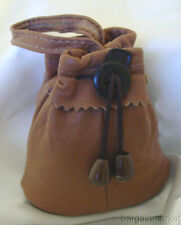 Genuine Leather Drawstring Coins Marble Trinket Jewelry Pouch