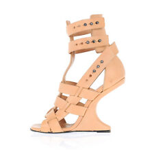RICK OWENS New Woman Leather CYCLOPS CANTILEVER Shoes Strap Sandals Sz 35 $2519