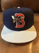 New Minor League Binghamton Bees Mets New Era 59Fifty Fitted Hat Size 7 1/8