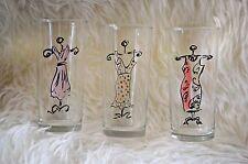 Set of 3  Vtg Fashion Women's Dress Highball Drinking Clear Glasses 10 oz