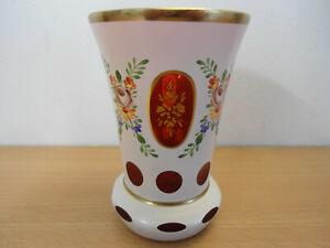 Ranftbecher / Pokalglas Kristallglas handbemalt