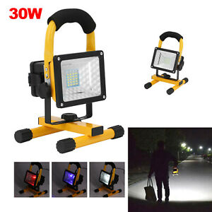 30W Flood Light LED Rechargeable Cordless SiteMobile Portable Work Camping Lamp