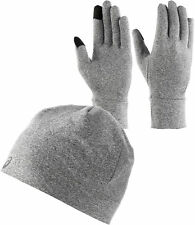 Asics Winter Running Hat And Glove Set - Grey