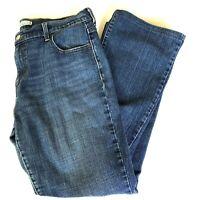 Women Jeans Levi's Boot Cut 515 Zipper Medium Blue Wash Denim - Size 14