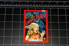 Night Trap Sega CD box art vinyl decal / sticker retro vintage video game 90's