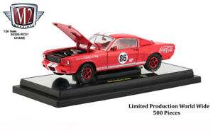 """Chase 1965 FORD MUSTANG SHELBY G.T. 350R #86 """"COCA-COLA"""" 1/24 BY M2 50300-RC01"""