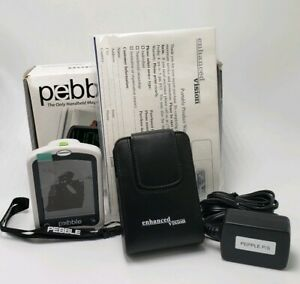 """New Pebble Handheld Visual Aid Low Vision Portable Magnifier 3.5"""" LCD Color"""