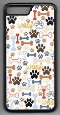 WOOF PAW BONE Phone Case Cover Hard Back iPhone 4 5 6 7 8 Plus X  (P)
