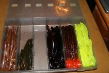 """Vintage Soft plastic fishing worms lot Tails 5"""",6"""",7"""" Lot # 1"""