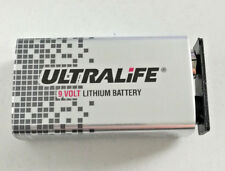 2x Ultralife 9V Block Power Cell Lithium Batterie 1200mAh für Rauchmelder *NEU*