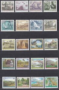 Naturschönheiten Komplette Ausgabe Österreich 1984 - 2001 Postfrisch ** MNH