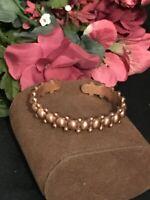 Vintage Copper Cuff Bracelet Unisex VTG 1970's Healing Health Jewelry